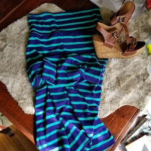 Mossimo striped maxi skirt  size L
